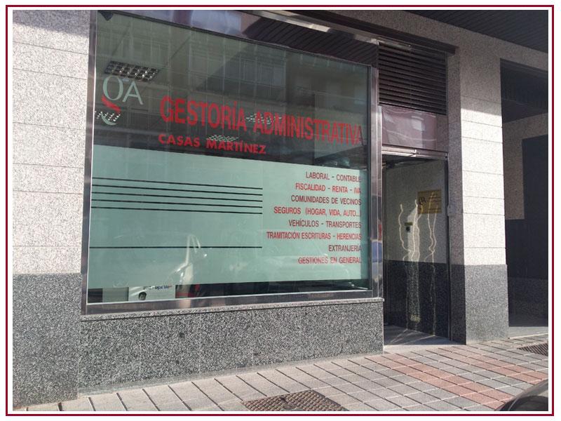 Fachada Gestoría Administrativa Casas Martínez